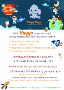 kurz anglického jazyka Happy Huggo